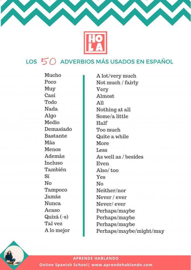 que son adverbios